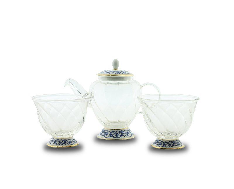 2.1簡易泡茶玻璃壺杯組