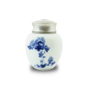 4.51手繪秋菊茶罐