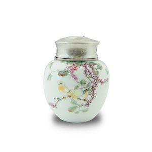 4.61手繪花鳥茶罐
