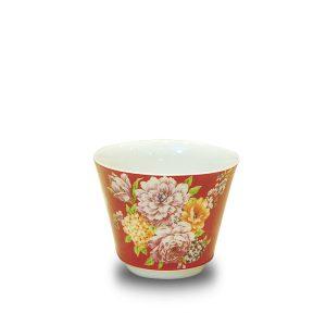 5.1彩繪牡丹品茗杯