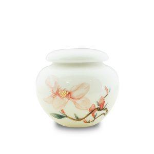 5.1手繪玉蘭花白瓷茶罐