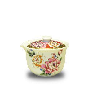 6.1手繪牡丹鎏金泡茶蓋碗 (1)
