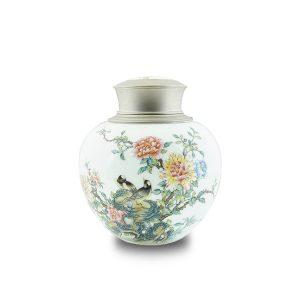 7.1手繪牡丹對鳥茶罐
